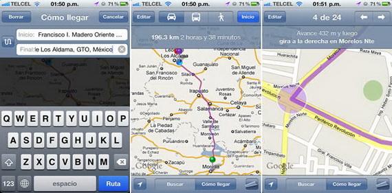 Actualización de  Google Maps para México