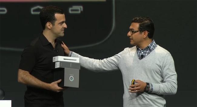 Vic Gundotra y Hugo Barra de Google