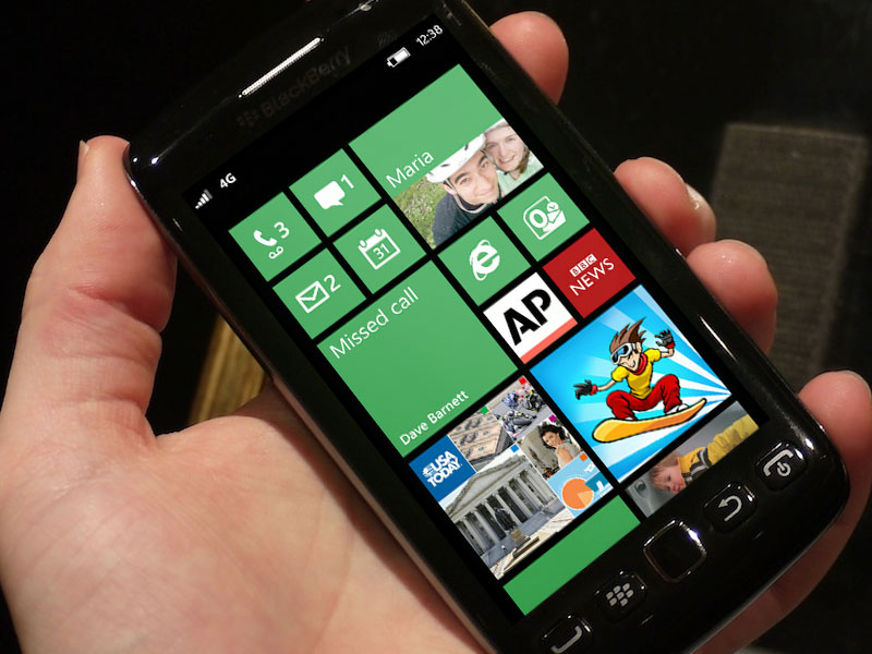 Blackberry con Windows Phone 8