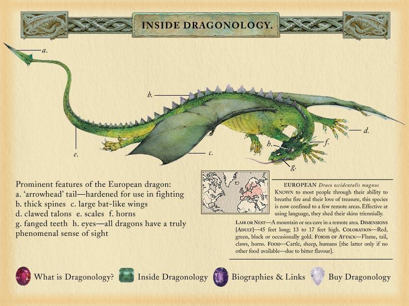 Ilustraciones del libro Dragonology