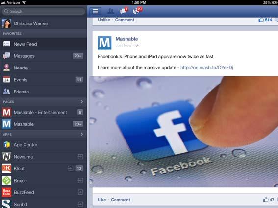 Facebook en iOS se renueva