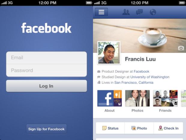 Cómo se ve el nuevo Facebook para iOS