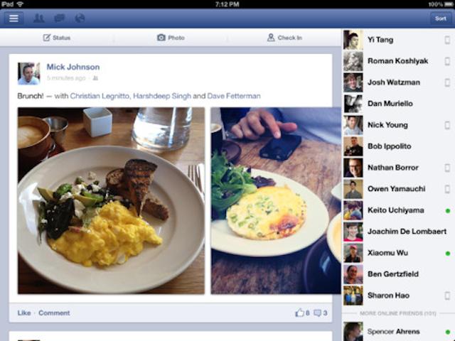 El nuevo Facebook en iOS es más rápido