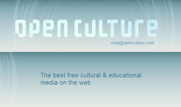 El sitio de libros y películas gratis Open Culture