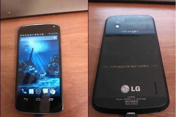 Imágenes filtradas del nuevo LG Nexus 4