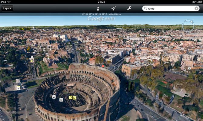 El nuevo aspecto visual de los mapas Google Earth