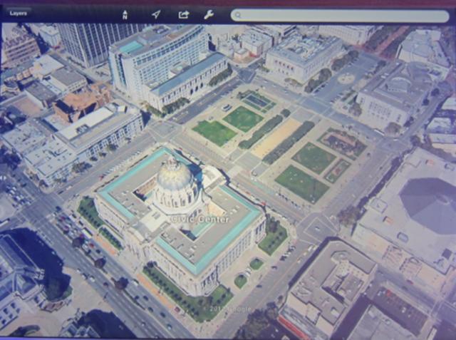 Navegación 3D en mapas de Google Earth