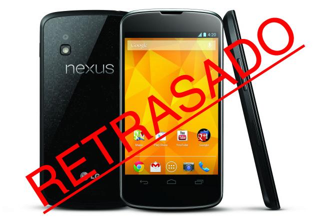 El Nexus 4 no estará presente para la temporada navideña