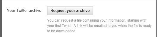 Your Twitter Archive: Opción para descargar nuestros Tweets