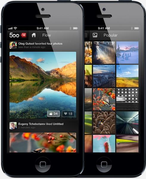 500px para iOS