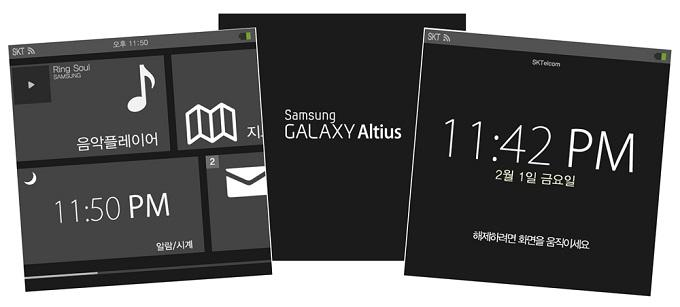 Posible interfaz del Reloj Samsung Galaxy Altius