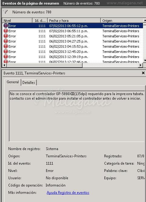 Solución al Error ID:1111