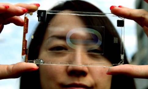 Prototipo de smartphone transparente