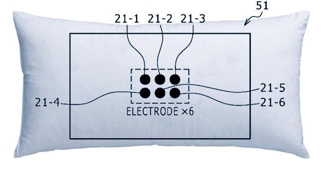 Concepto de lo que podría ser la almohada inteligente