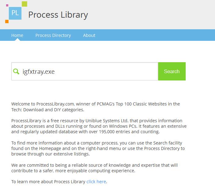 Utilidad Web, Process Library