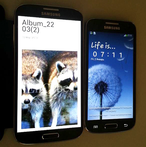 El Samsung Galaxy S4 mini con su hermano mayor