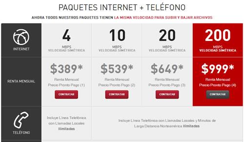 Paquetes Internet Axtel