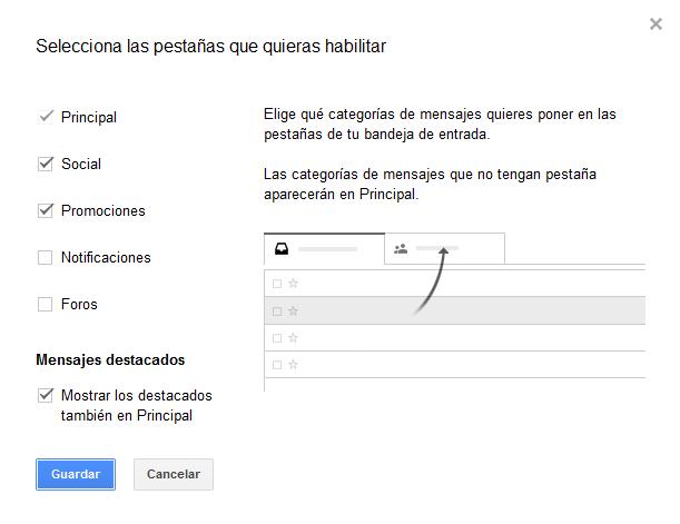 Pestañas-gmail