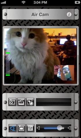 Air Cam Live Video interfaz