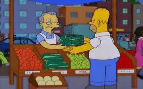 La Famosa sandía cuadrada aparece en los Simpson