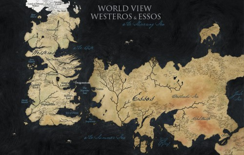 Mapa Oficial de Game of Thrones para la serie de TV
