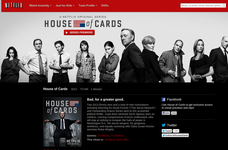House of Cards de Netflix