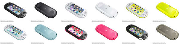 Colores de la PS Vita Slim