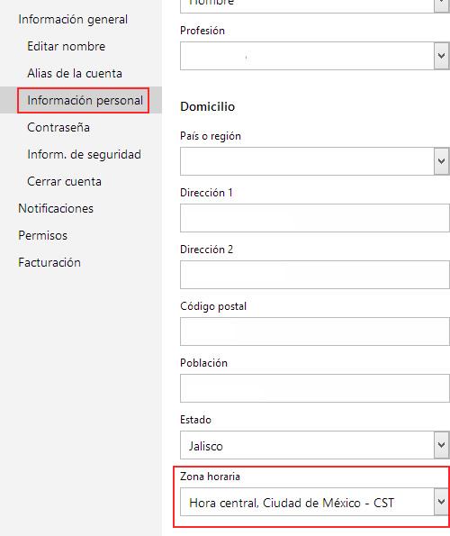 Como ajustar la zona horaria de tu cuenta de Outlook.com