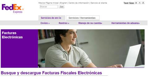 Sitios de Facturación electronico de FedEx