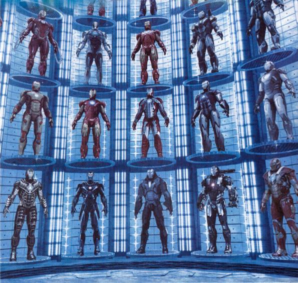 Armaduras para Iron Man 3