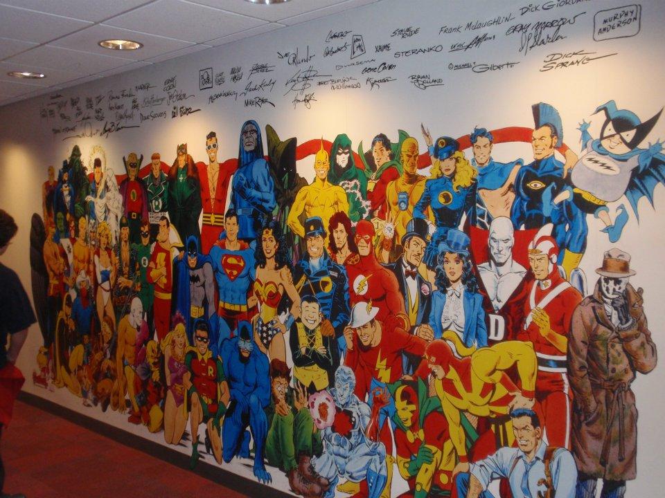 Mural en las oficinas de DC en Nueva York