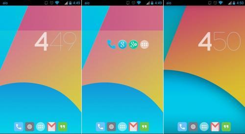 Pantalla de Inicio Android 4.4 2