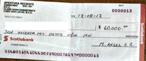 Cheques certificados falsos