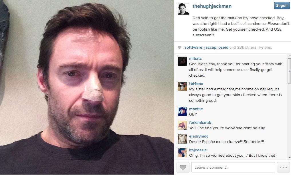 Jackman publico la imagen en Instagram