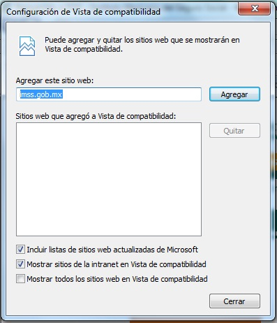 Explico como hacer funcionar el portal del IDSE en Windows 8