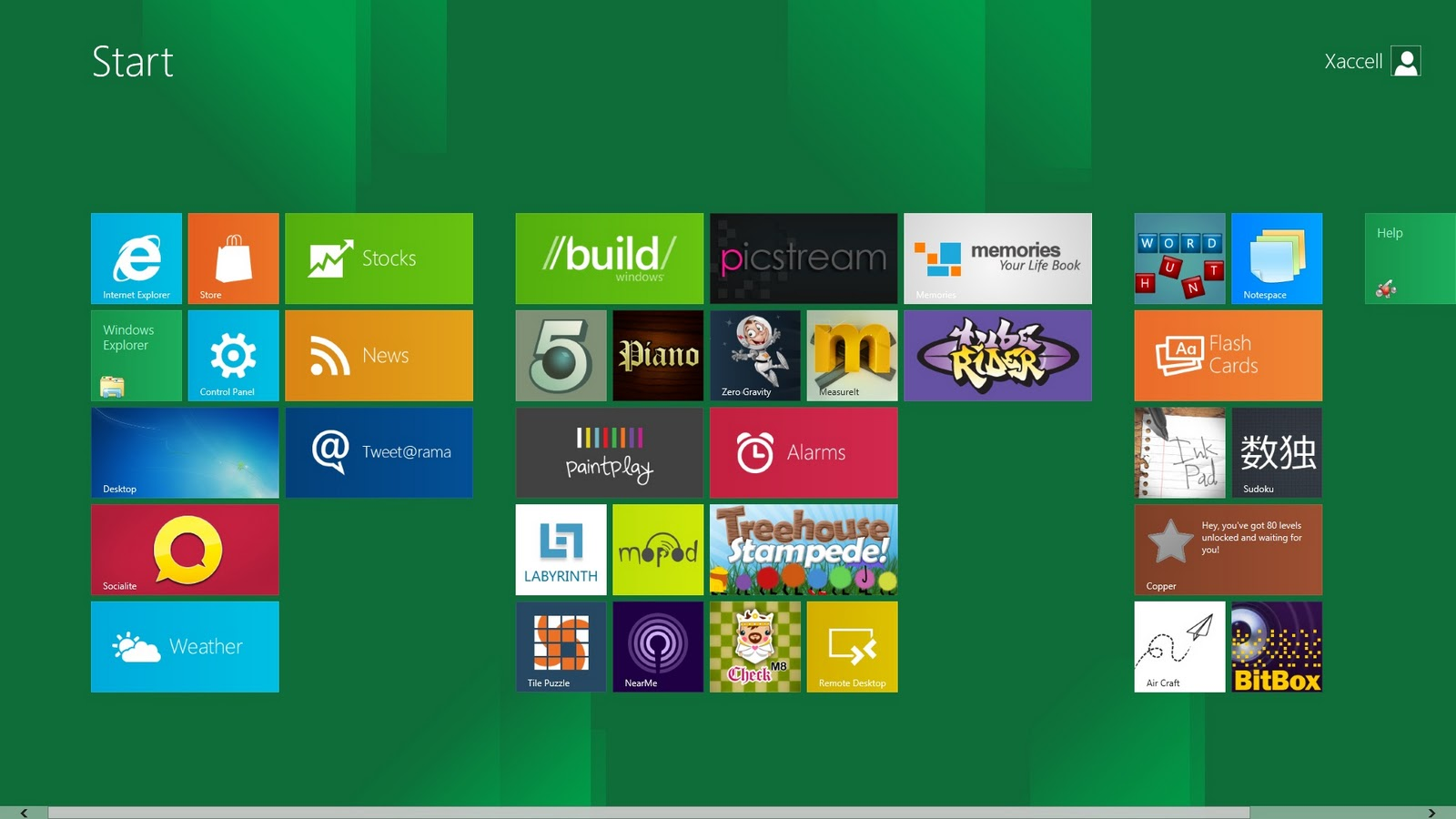Interfaz Windows 8
