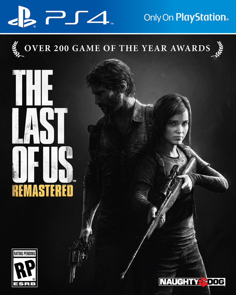 Portada oficial de The Last of Us Remastered para PS4