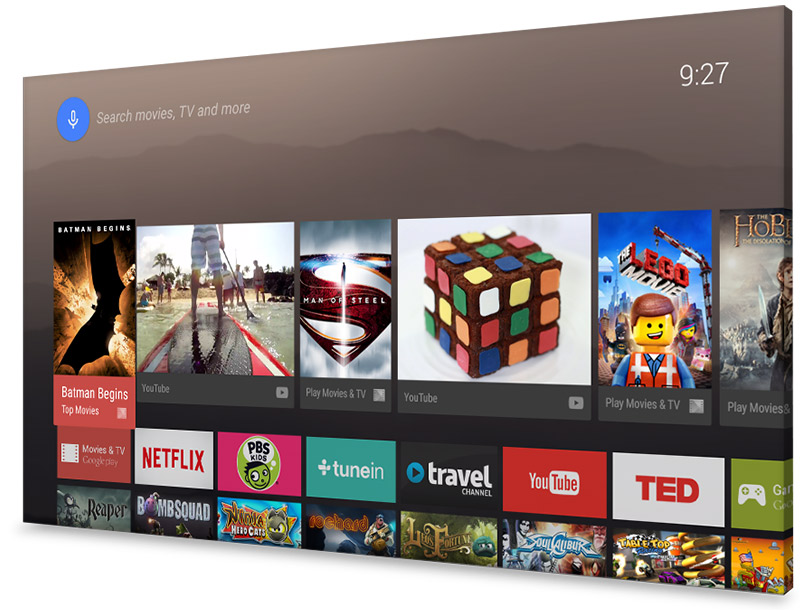 Interfaz Android TV