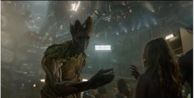 Groot, uno de los personajes que más gusto de la película