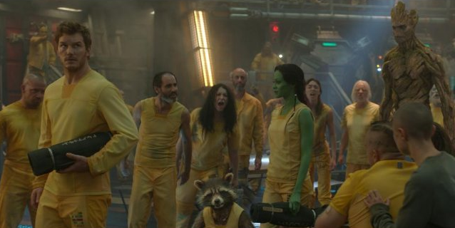 Peter Quill, Gamora, Groot y Rocket