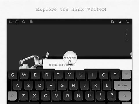 Interfaz de Hanx Writer