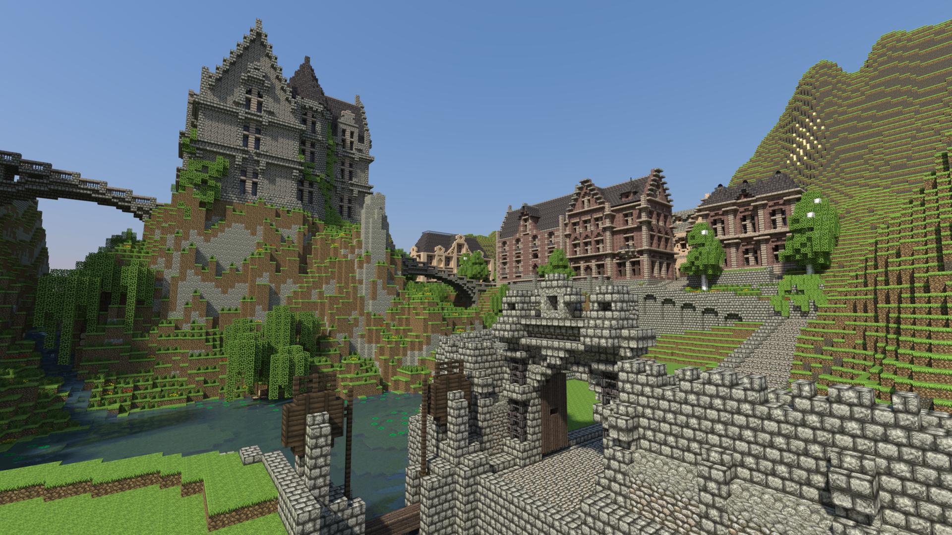 Mundo creado en Minecraft