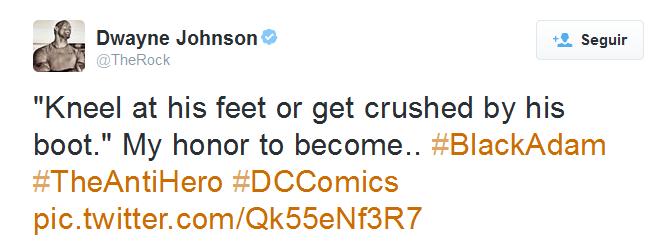 Tweet de Dwayne Johnson