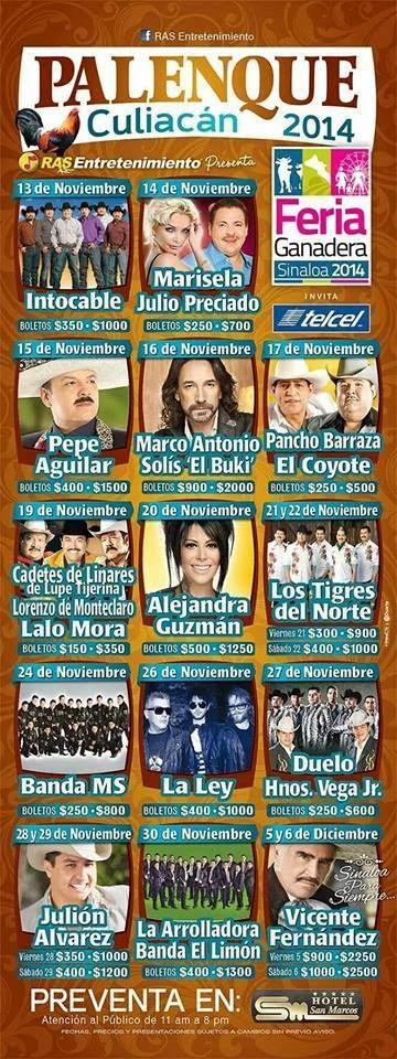 Cartel Palenque Feria Culiacán 2014