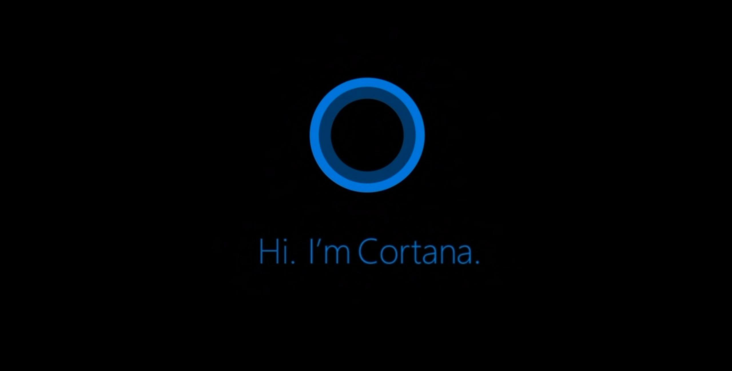 Interfaz de Cortana
