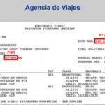 Información con el PNR y Num. Ticket para factura electrónica de un recibo de Agencia de Viaje de Boleto de Aeroméxico