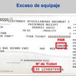 Información con el PNR y Ticket para factura electrónica por cargos de exceso de equipaje de Aeroméxico