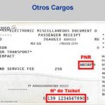 Información con el PNR y Ticket para factura electrónica por otros cargos de Aeroméxico