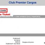 Num. de Ticket para Facturación Electrónica Club Prermier Aeroméxico