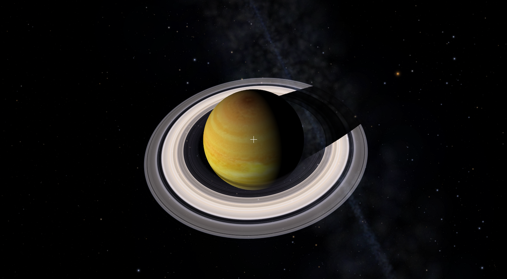 Saturno visto desde el Telescopio Virtual